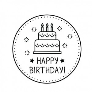 "Stempel ""Happy Birthday 1"""