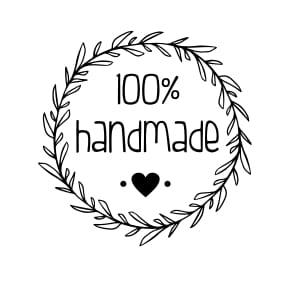 "Stempel ""100% handmade"" Dom w kratkę"